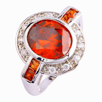 Fashion Rings New Art Deco Jewelry Delicate Red Garnet 925 Silver Ring Size 9 Wholesale Best Gift For Women Free Shipping