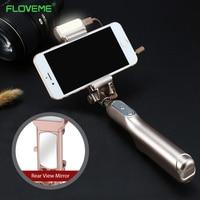 FLOVEME Luxury Universal Mini Selfie Stick Wired Handheld Beauty Shot Monopod Extendable Self Timer Phone Holder