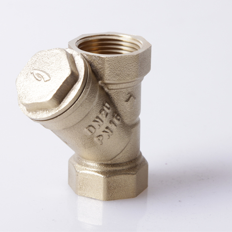 Factory Direct Silk Mouth G Thread Full Brass Filter Y-type Valve With Filter DN15-DN50