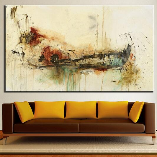 Slowly wall Abstract Art wall painting for home decor ideas on ...