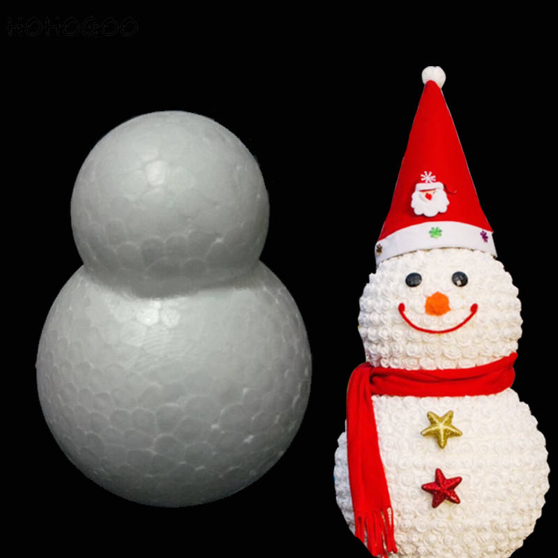 HOHOGOO 1PC 30CM Christmas Foam Snowman Mold Polystyrene Styrofoam DIY Valentines Day Gift Decoration Supplies