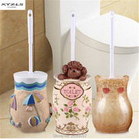 XYZLS 2pcs/set High quality Creative Resin Toilet Brush Holder Set for Bathroom Storage Bathroom Accessories Sets