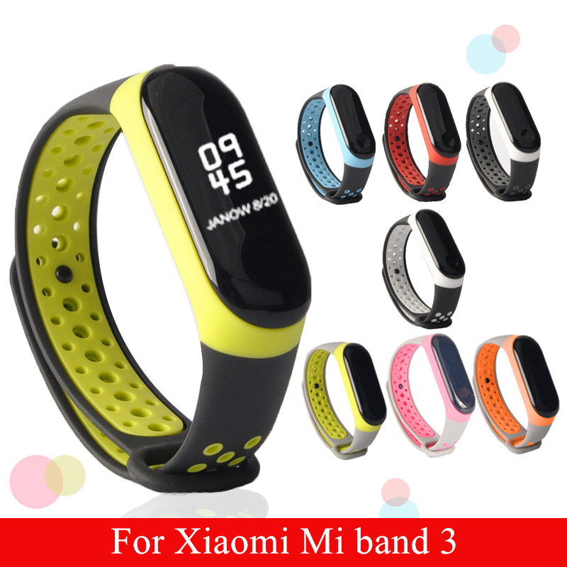 Mi Band 3 strap sport Silicone watch wrist Bracelet miband3 strap accessories Mi band3 bracelet smart for Xiaomi mi band 3 strap new mi band 3 bracelet wrist strap mi band3 smart band strap miband3 wristband black metal for xiaomi mi band 3 strap