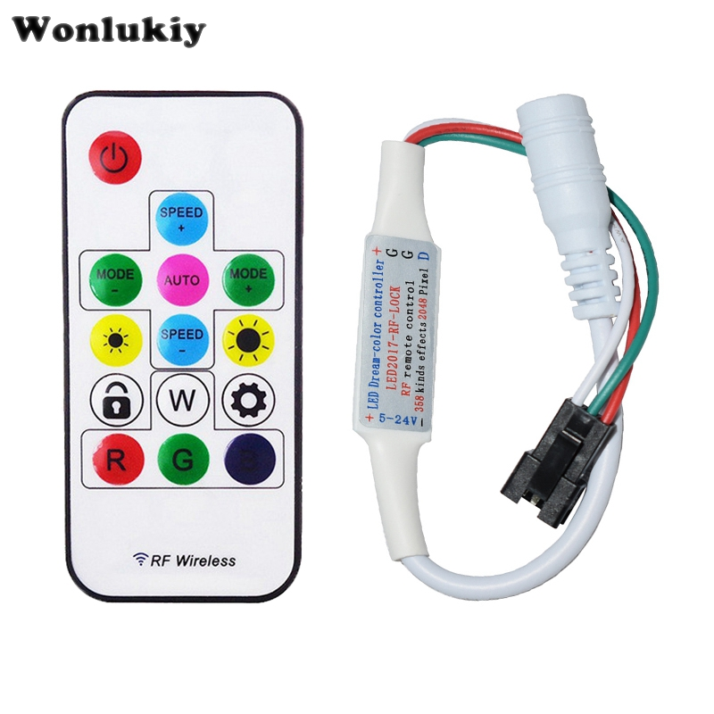 14 Key Dc 5 V-24 V Flexible Wireless Remote Mini Rf Led Controller 358 Arten Effekte Für Ws2811 Ws2812b Led Streifen Licht Herausragende Eigenschaften Beleuchtung Zubehör