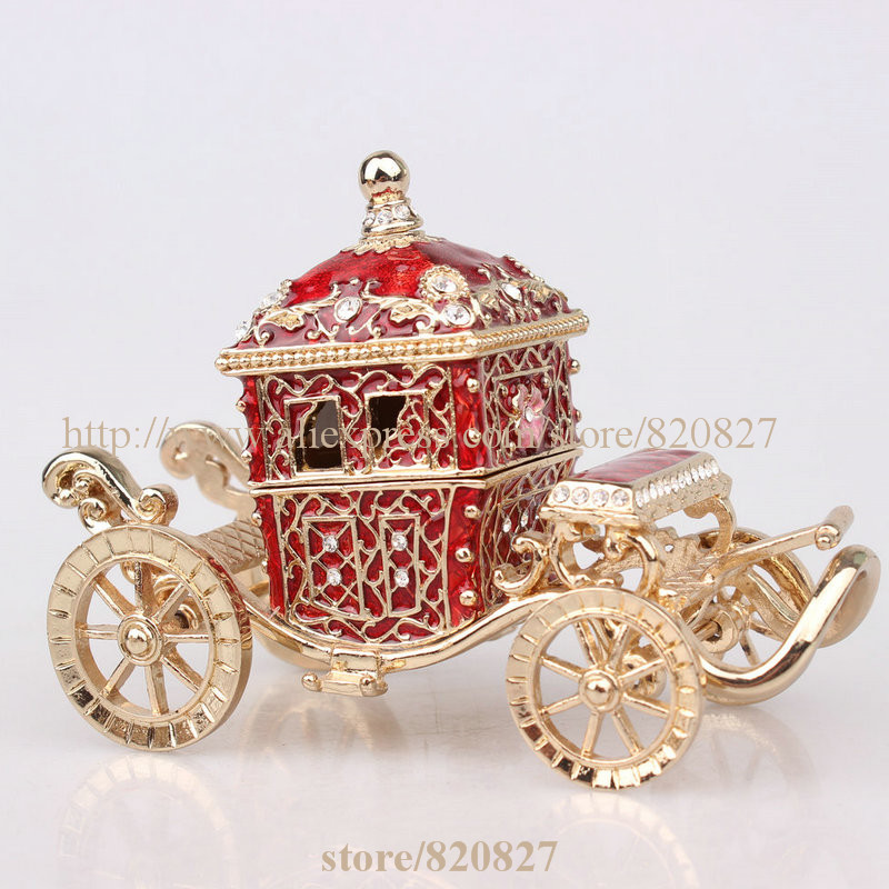 Royal Crown Car Treasure Jewelry Box Crown Trinket Box Fairy Carriage Form Trinket / Jewelry Box Gift Her Majestys Carriage