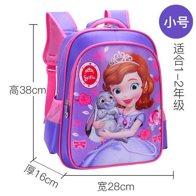 Disney Primary school student bag for school Frozen cartoon kindergarten princess backpack girl burden backpack girl boy bag