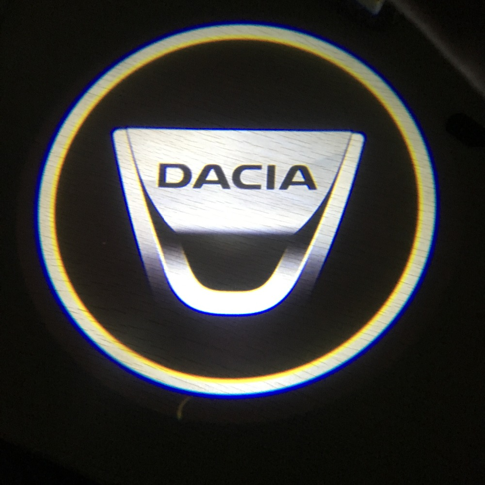2pcs For DACIA Car Door Welcome Logo Light Projector Welcome Light Door For Dacia