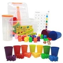 Crianças de aprendizagem precoce montessori educação urso brinquedos cognitivos digitais mão cérebro coordenação urso conjunto auxiliares ensino brinquedo presente