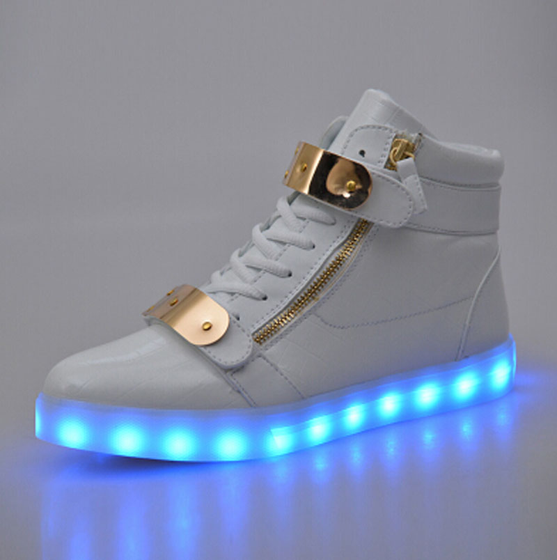 white high top light up shoes shop