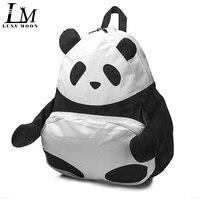 Preppy Style Cartoon Corduroy Backpacks Kawaii Panda Animal Bolso High School Bags for Teenage Girls Large Travel Rucksack Q172