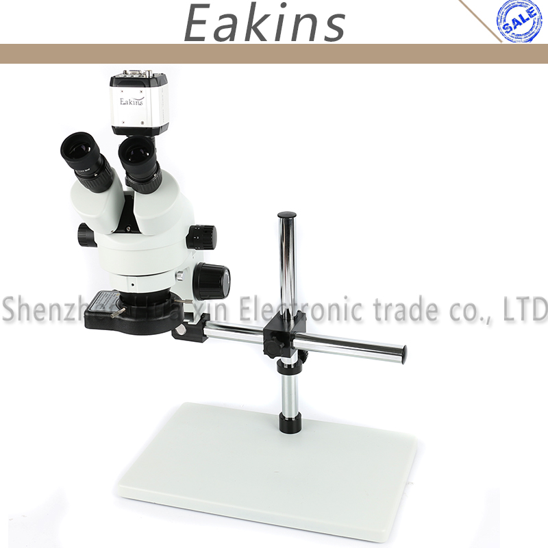 7X-45X Trinocular Zoom Stereo Microscope Revolving Working Stand VGA USB AV/TV Video Eyepiece Camera 144 LED Light For Fix PCB continuous zoom binocular visual 7x 90x trinocular stereo microscope digital microscope camera vga cvbs usb av tv outputs