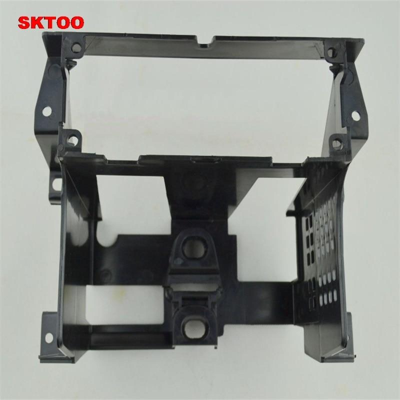 SKTOO For 2001-2005 VW Passat B5 Box Instrument Central CD Box Radio Trim Panel Radio Frame Mounting Bracket CD Frame Bracket