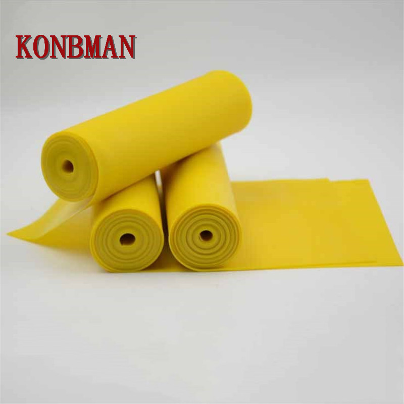 0.5mm 0.6mm 0.7mm*2m Thickness Slingshot Rubber Band Tube Yellow Natural Latex Flat Rubber Band Slingshot Catapult