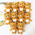 10pcs/lot Cartoon Kawaii Mini Teddy Bear Kakao Friends 10cm Plush Dolls with Chain Stuffed Soft Toys Kids Gift Pendants AP0037