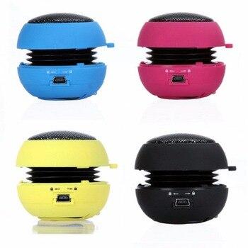 5 color 3.5mm Mini Portable Wired Subwoofer Speaker USB Keychain Hamburger Stereo Speaker Jack For Smartphone Computer PC MP3 subwoofer