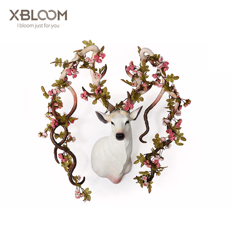 Flower Deer Sculpture Art Animal statue home decoration accessories House decorated wedding decoration party decoration vaseFlower Deer Sculpture Art Animal statue home decoration accessories House decorated wedding decoration party decoration vase