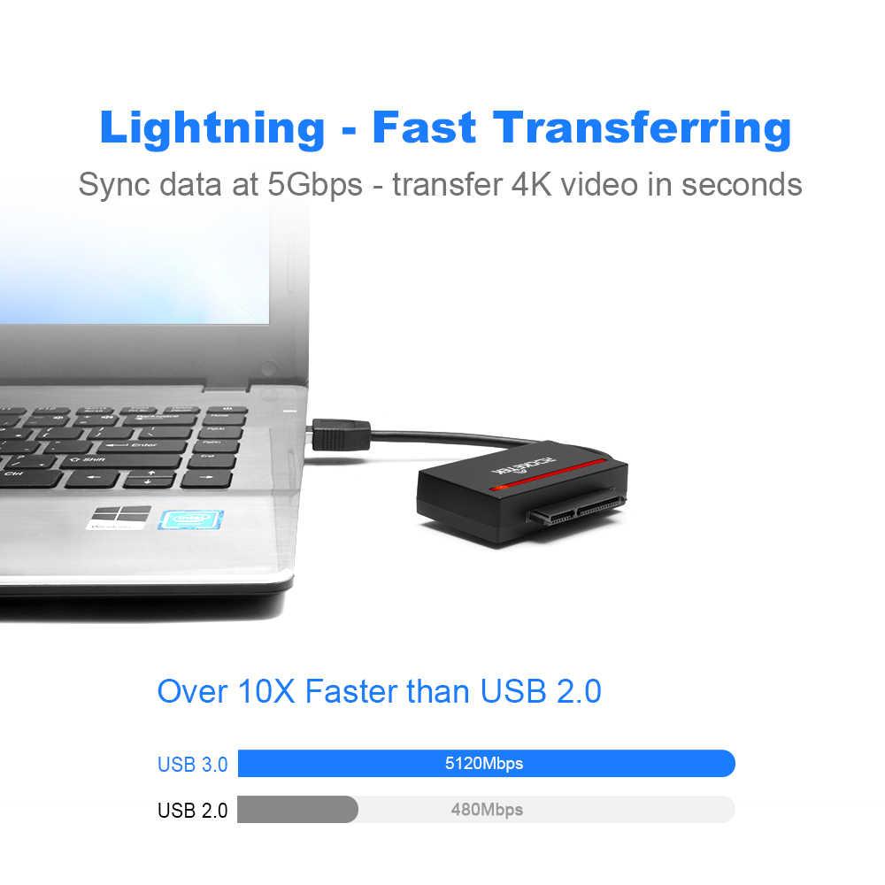 CFast 2.0 قارئ بطاقات ، USB 3.0 إلى بطاقة محول SATA ل 2.5 بوصة SATA HDD وسيط تخزين ذو حالة ثابتة/ القرص الصلب قرص صلب/بطاقة CF ل Windows 10/8/7