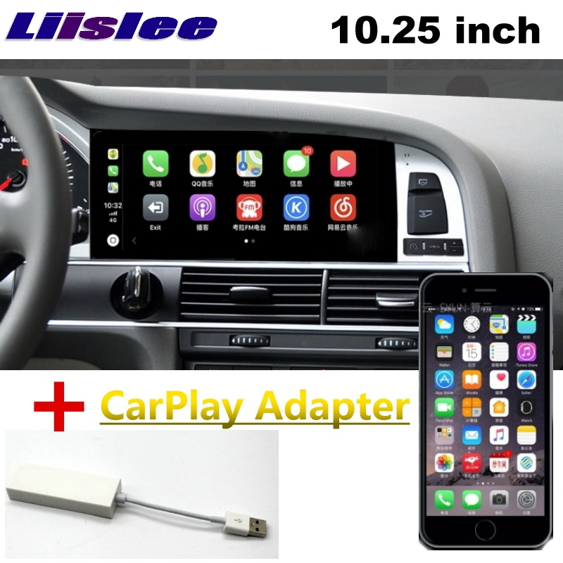 LiisLee Car Multimedia For Audi Q7 4L V12 2007~2015 NAVI CarPlay Adapter GPS WIFI Audio Radio Frame Navigation MAP Large Screen