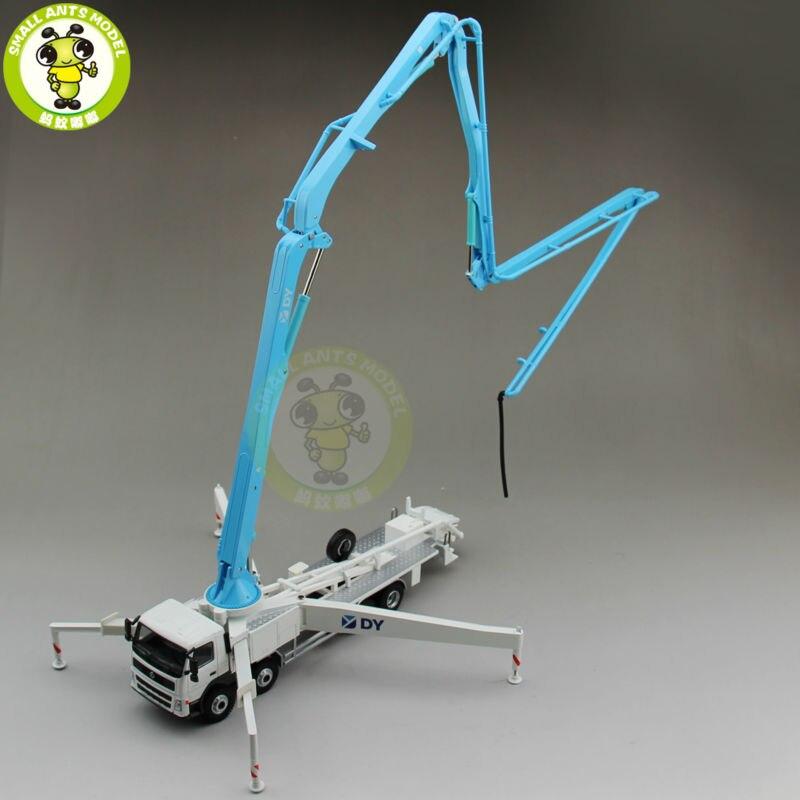 1/50 DY Actros Concrete Pump Truck Construction Machinery Diecast Model Car Blue