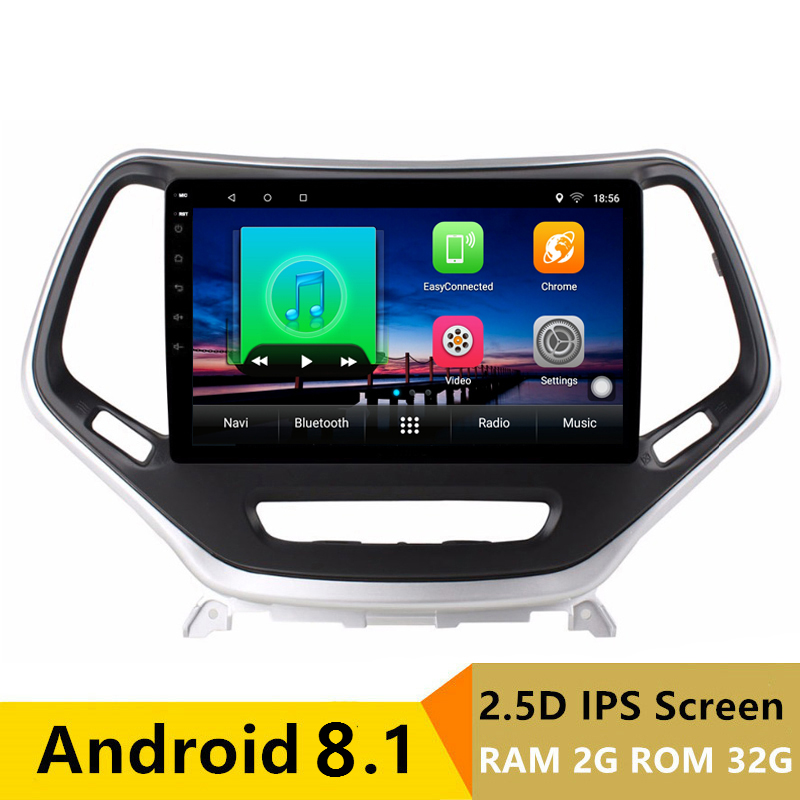 "9"" 2G RAM 32G ROM Android Car DVD GPS For Jeep Cherokee 2014 2015 2016 radio tape recorder stereo audio headunit wifi BT"