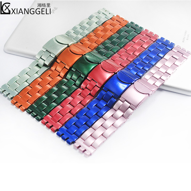 Watch accessories For Swatch 19mm latest stainless steel watch band for all types of high-end men's and women's brand watches king s end of watch