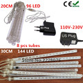 20cm/30cm Meteor Shower Rain Tubes Led Light Lamp 110-230V EU US Plug Christmas String Light Wedding Garden Decoration 8 tubes