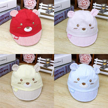 PUDCOCO Baby Newborn Kids Girls Boys Baseball Caps Striped Hats Sun Hat With Ear(China)