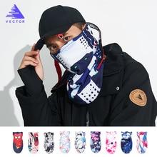VECTOR Men Women Thermal Fleece Skiing Bibs Windproof Snowboard Warmer Face Mask Bike Snowboard Triangular Scarf Skiing Mask