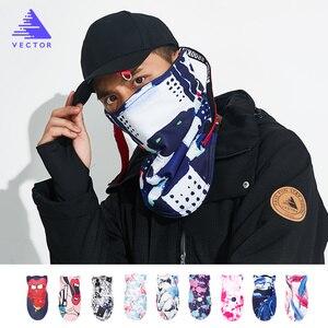 Image 1 - ベクトル男性女性熱フリーススキービブ防風スノーボード Warmer フェイスマスクバイクスノーボード三角スカーフスキーマスク