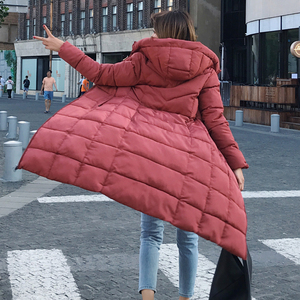 Image 2 - Plus Size 4XL 5XL 6XL womens Winter Jackets Hooded Stand Collar Cotton Padded Female Coat Winter Women Long Parka Warm Thicken