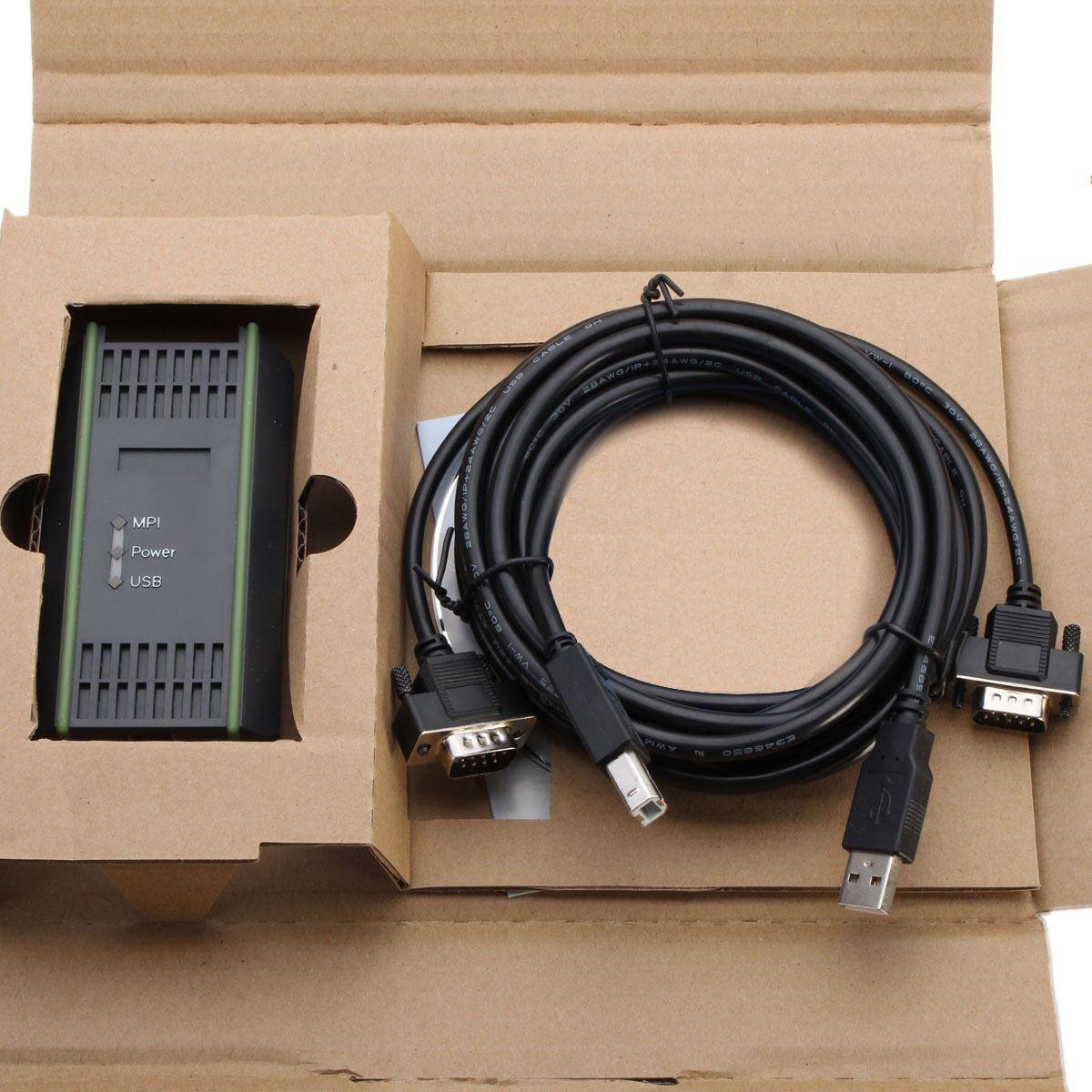 Adaptador de Cable USB compatible con Siemens S7-200/300/400 PLC PI comunicaciones 9 pines reemplazo para Siemens 6ES7972-0CB20-0XA0