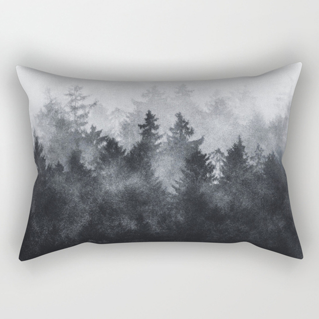 Forest Pattern Rectangle Pillow Case