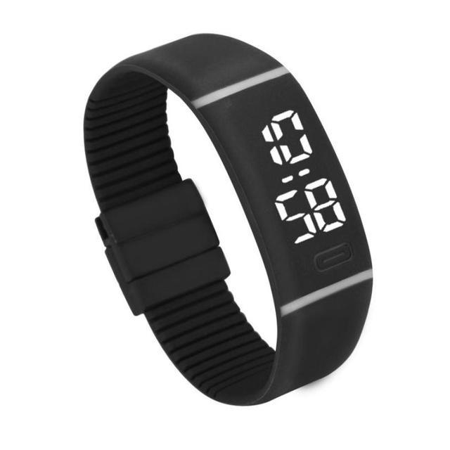 Delicate Sports Mens Womens Rubber LED Watch Date Bracelet Digital Wrist Watch p