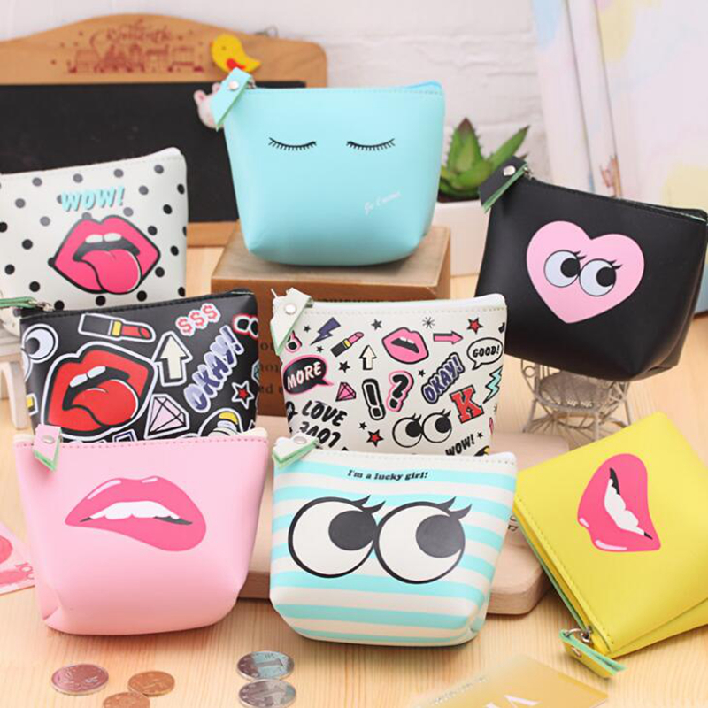 Cute Graffiti Coin Purses Holder Women Mini Change Wallets Girl  Kids Money Bag Coin Bag Children Kids Zipper Small Pouch Gift