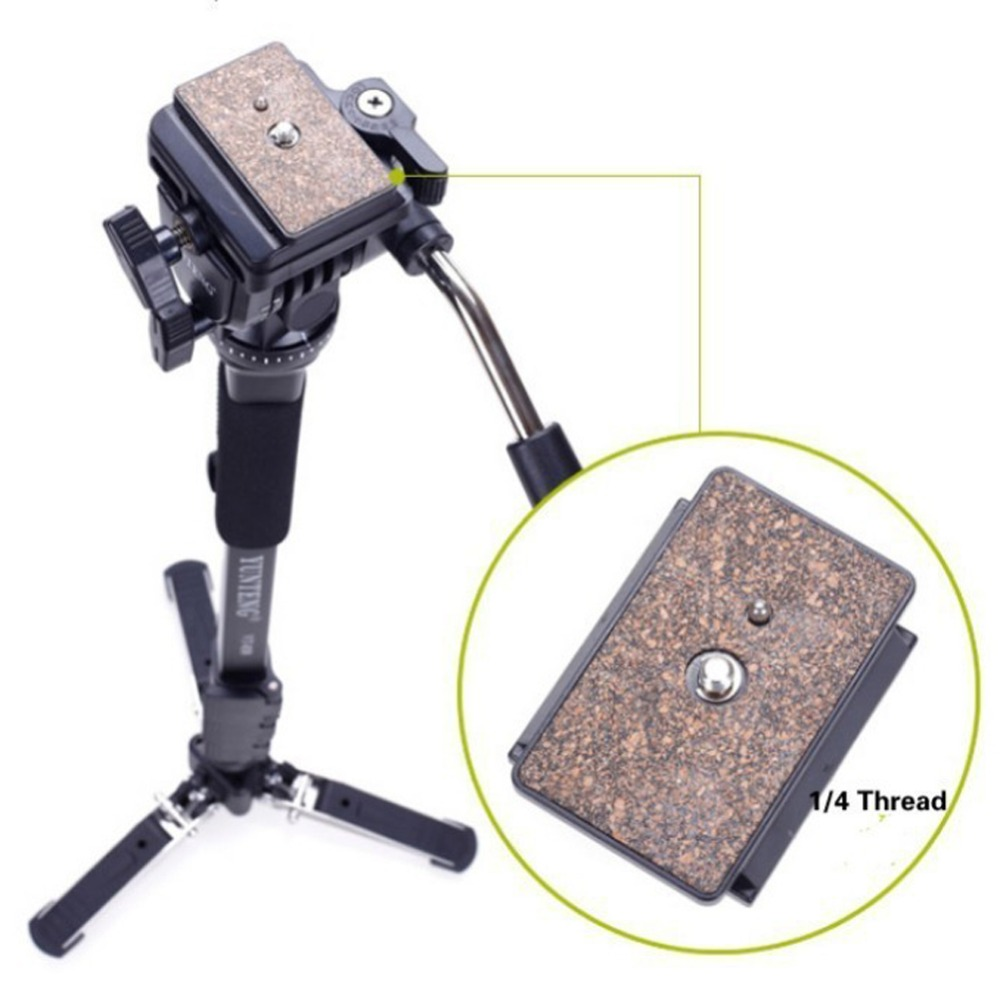 Professional C288 Monopod + Fluid Pan Head Ball + DV Unipod Mobile Phone Clip Holder For Canon Nikon DSLR Camera VCT 288-in Tripods from Consumer Electronics    3