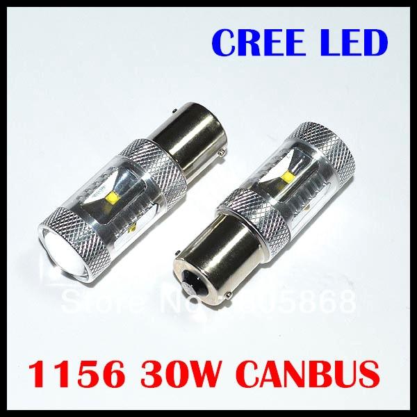 2 шт./лот Canbus безотказные Cree чипы Светодиодные 30 Вт 1156 led canbus ba15s led 12 В светодиодные фонари резервного копирования