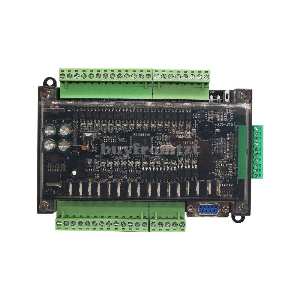 FX3U 32MT6AD2DA 16 16 Transistor 2 6 Entrada Analógica de Saída Analógica de Entrada Placa De Controle De Saída