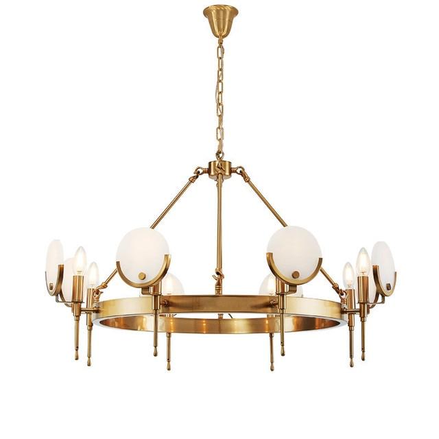 8 head copper body marble shade LED Pendant light Bjornled luxury E14 LED lamp droplight adjust chain Livingroom shop Cafe villa