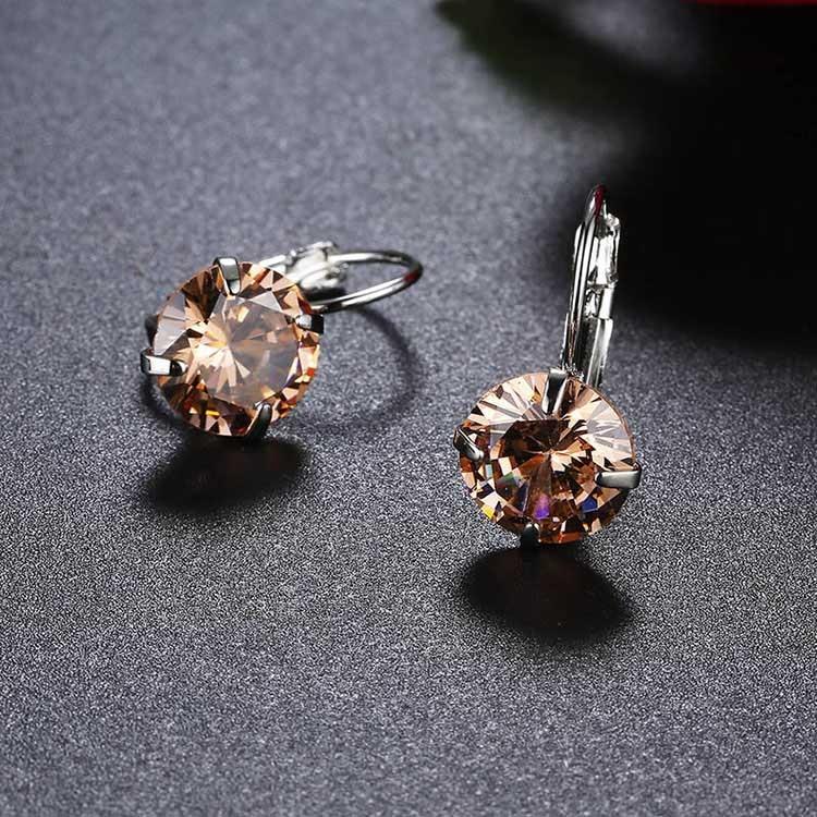 luxury earrings zirconia