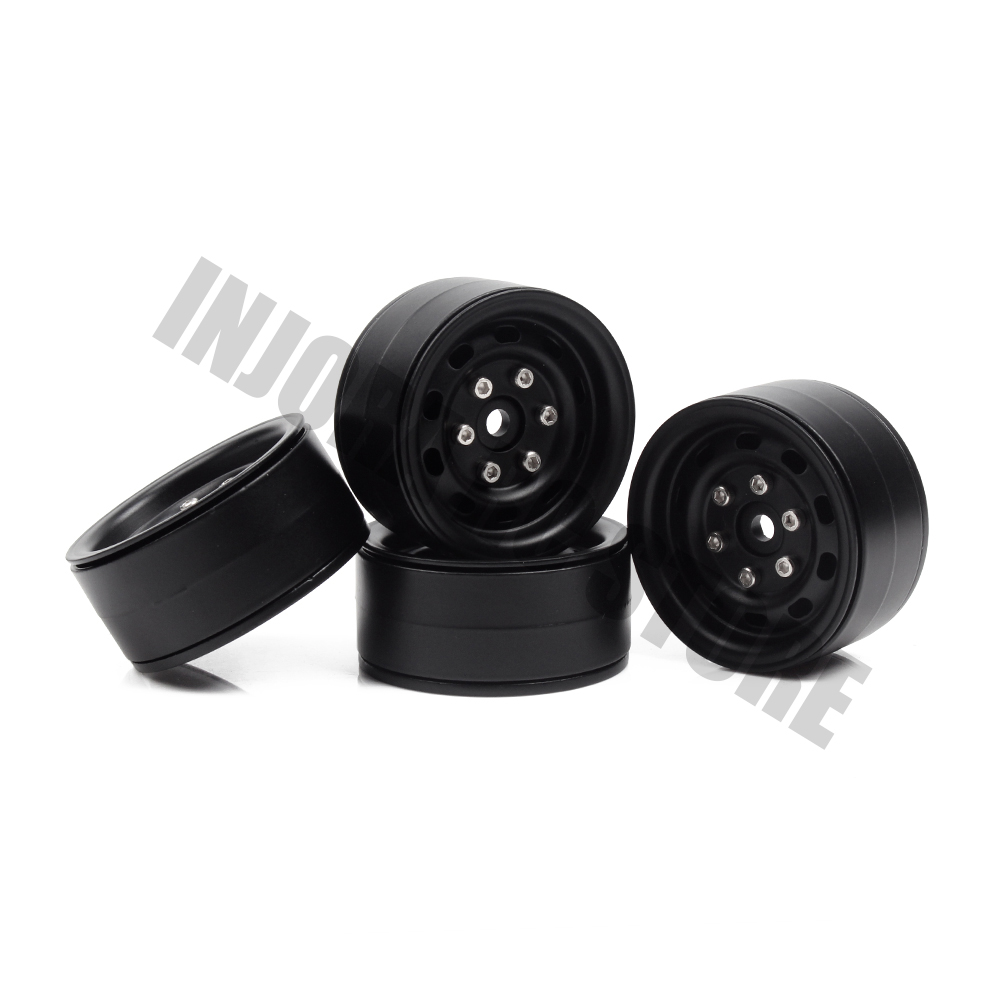 купить 4PCS Metal 1.9 Inch Beadlock Wheel Rim for 1/10 RC Rock Crawler Traxxas TRX-4 Axial SCX10 90046 Tamiya CC01 D90 D110 по цене 1903.25 рублей