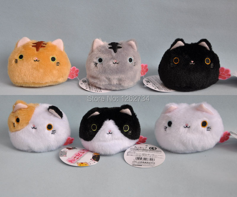 Cute 6 Styles Big Face Cat / Balls Plush Doll 3.5 inch - ToyWorld store