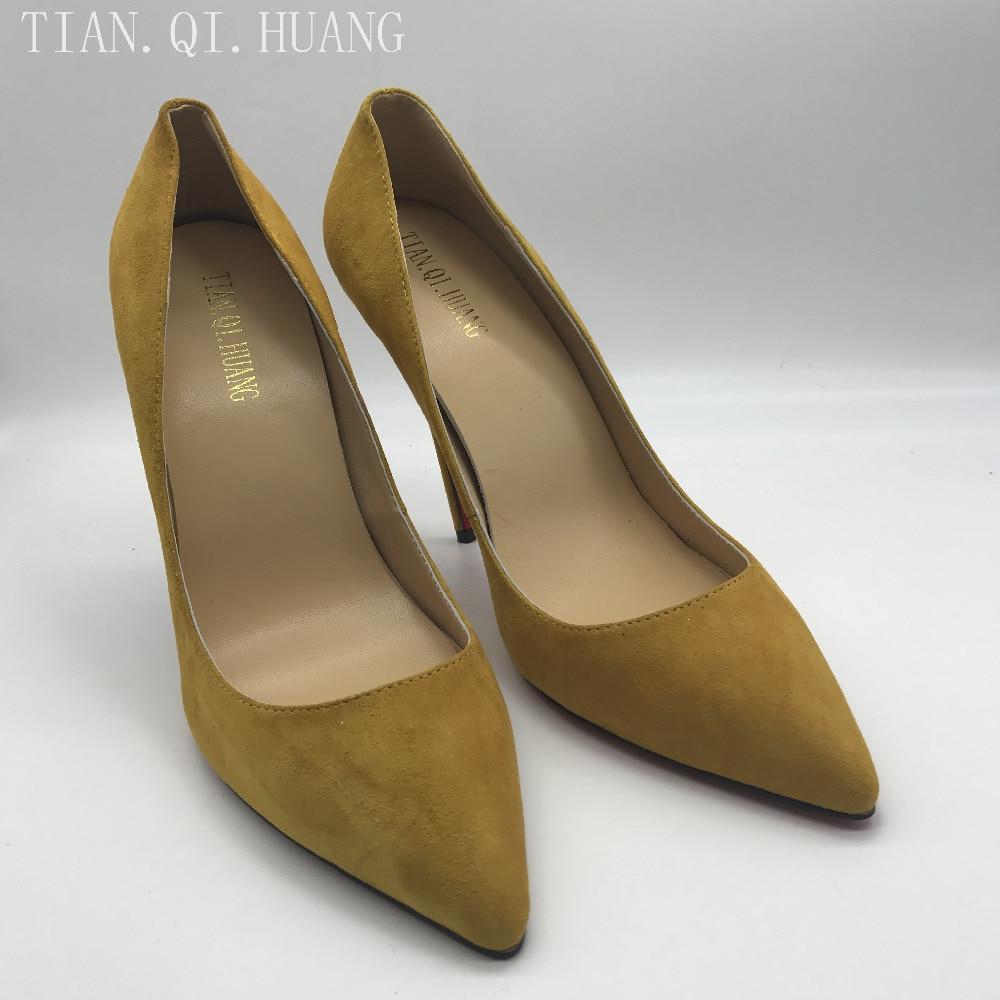 New Style Woman Sexy Pumps Brand Fashion Design Shoes High Heels Women Nightclub Shoes High Quality Suede Shoes TIAN.QI.HUANG 2