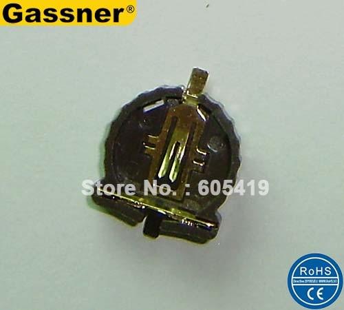 500 шт./лот, CR1220 кнопки сотового держатель батареи, SMT SMD держатель батареи гнездо клипы (CR1220-2 ER)