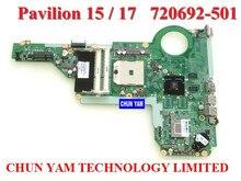 En gros ordinateur portable carte mère 720692-501 pour HP Pavilion 15-E 17-E DA0R75MB6C0 REV: C mainboard 100% Testé 90 Jours de Garantie
