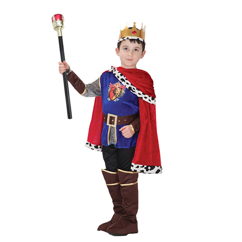 New Honorable Arabia King Children Cosplay Halloween Cute Boy Party Costumes for Kids Prince Charming Cosplay S M L