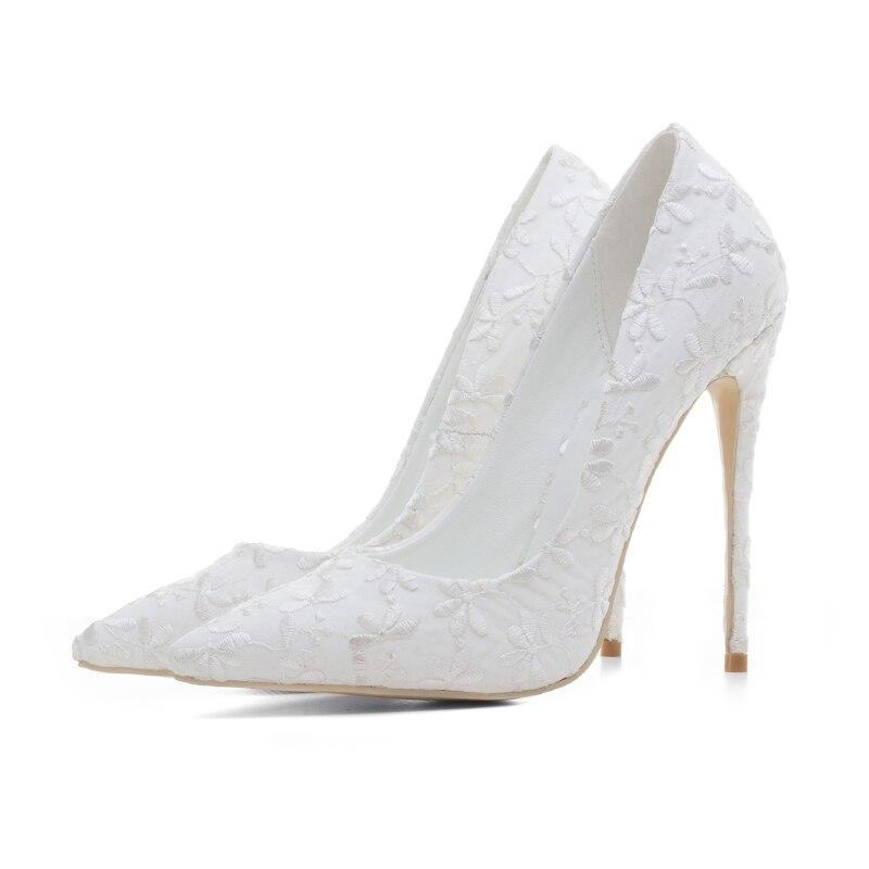 Mariage Pompes Mode Femmes Sexy Chaussures Blanc Talons Haute A341 Classique De 2018 Hauts 12cm À Lemai Nouvelles vUzf01