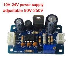 10 V-24 V питания 90 V-250 V Регулируемый DC boost высокого Напряжение, модуль источника питания для газоразрядный индикатор светится часы трубка Magic Eye