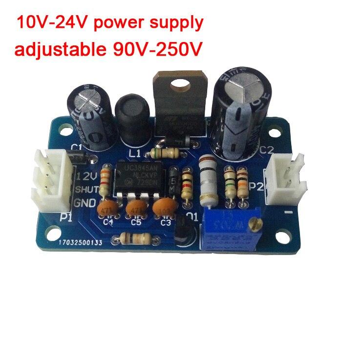 10V-24V Power Supply 90V-250V Adjustable DC Boost High Voltage Power Supply Module For Nixie Tube Glow Clock Tube Magic Eye
