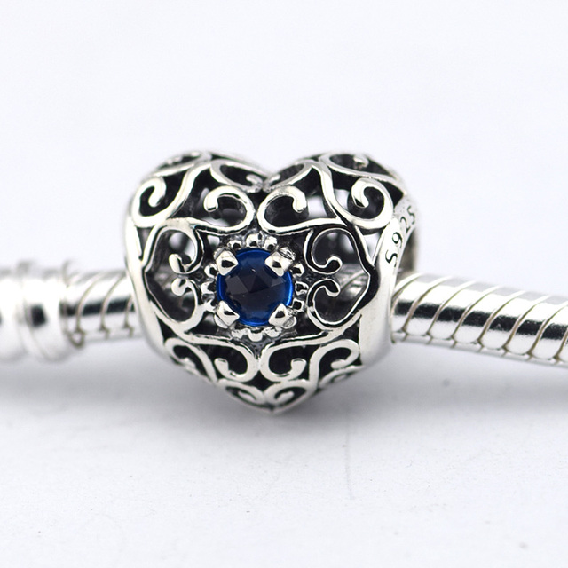 Fits European Silver Charm Bracelet Beads December Birthstone Charms With Turquoise Women 925 Jewelry