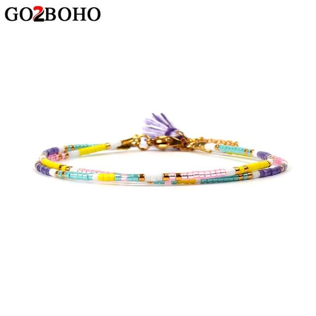 Go2boho MIYUKI Beads Bracelet Friendship Women Bracelets Handmade Colorful Tasse